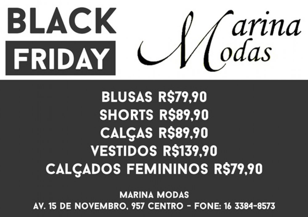 Black Friday na Marina Modas